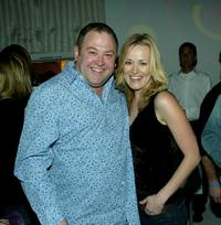 Mark Addy and Jennifer Erwin at the CBS and UPN Winter Press Tour party.