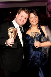 James Corden and Ruth Jones at the after party of British Academy Television Awards 2008.