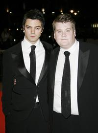 Dominic Cooper and James Corden at the UK premiere of