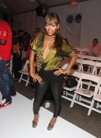 Meagan Good at the Custo Barcelona 2009 collection fashion show during the Mercedes-Benz Fashion Week.