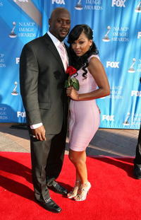 Meagan Good and Guest at the 39th NAACP Image Awards.