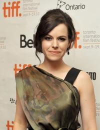 Emily Hampshire at the premiere of