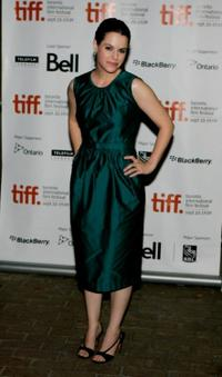 Emily Hampshire at the screening of