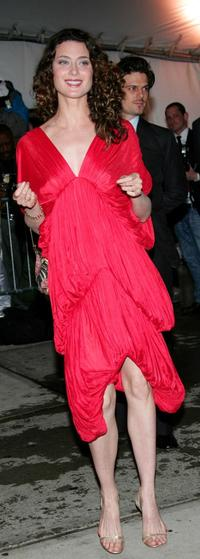 Shalom Harlow at the MET Costume Institute Gala Celebrating Chanel.