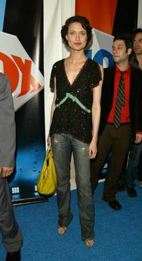 Shalom Harlow at the afterparty of Fox primetime program announcements for 2004-2005.