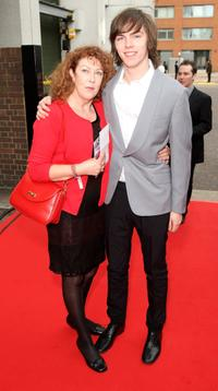 Glenis and Nicholas Hoult at the Britain's Best 2008 Award.