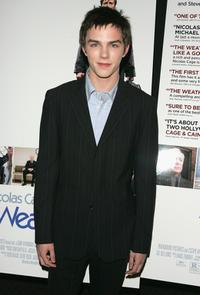 Nicholas Hoult at the premiere of