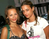 Rashida Jones and Charlotte Ronson at the Proenza Schouler - Spring 2005 fashion show during the Olympus Fashion Week Spring 2005.