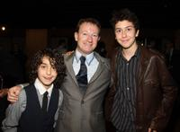 Alex Wolff, Simon Beaufoy and Nat Wolff at the 61st Annual Writers Guild Awards.