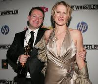 Simon Beaufoy and Jane Beaufoy at the post Oscar party of