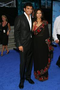 M. Night Shyamalan and Bhavna Vaswani at the premiere of