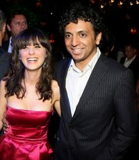 Zooey Deschanel and M. Night Shyamalan at the after party of the premiere of