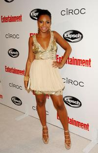 Ashanti at the Entertainment Weekly Grammy After Party Toasting LA Reid.