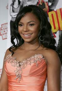 Ashanti at the premiere of