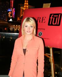 Elisha Cuthbert at the nightclub Pure at a party.
