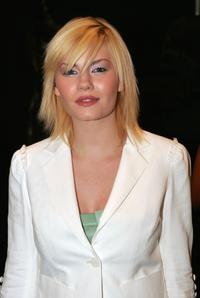 Elisha Cuthbert at the Luca Luca Fall 2005 show during the Olympus Fashion Week.