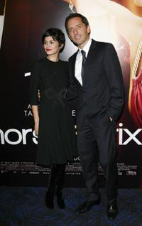 Audrey Tautou and Gad Elmaleh at the premiere of
