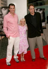 Timothy Olyphant, Bree Seanna Wall and David Milch at the premiere of
