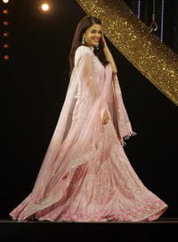 Aishwarya Rai on stage at the International Indian Film Academy Awards (IIFAs) in the U.K.