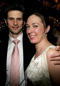 Frederick Weller and Elizabeth Marvel at the opening night after party of