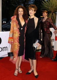 Andie MacDowell and Olivia Williams at the Irish Film and Televison Awards.