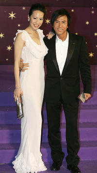 Donnie Yen and Guest at the 25th Hong Kong Film Awards.