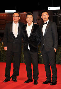 Director Andrew Lau, Donnie Yen and Shawn Yue at the premiere of