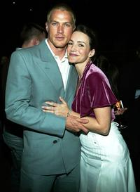 Jason Lewis and Kristin Davis at the Louis Vuitton 150th Anniversary party and store opening celebration.