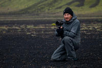 Director Darren Aronofsky on the set of