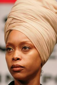 Erykah Badu at the news conference to discuss the 10th anniversary of the Million Man.