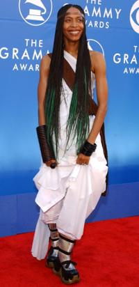 Erykah Badu at the 44th Annual Grammy Awards.