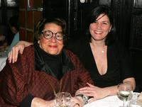 Linda Fiorentino and Elaine Kaufman attend a dinner for the screening of