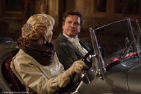 Jessica Biel as Larita and Colin Firth as Mr. Whittaker in