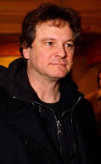 Colin Firth poses at the Gibson Guitar celebrity hospitality lounge held at the Miners Club during the 2008 Sundance Film Festival.