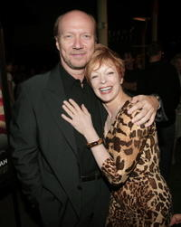 Frances Fisher and Paul Haggis at the premiere of