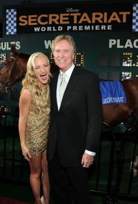 Amanda Michalka and Randall Wallace at the premiere of