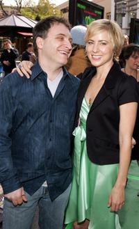 Lawrence Guterman and Traylor Howard at the after party of the premiere of