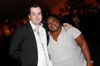 Jim Jefferies and Sonya Eddy at the California premiere of