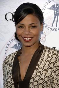 Sanaa Lathan at the launch of Cynthia Garrett and QVC's