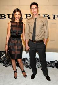 Leonor Varela and Eric Balfour at the grand re-opening of Burberry Beverly Hills store.