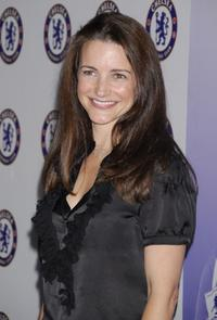 Kristin Davis at the party for the Chelsea Football Club.