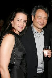 Kristin Davis and director Ang Lee at the after party for the premiere of 'Lust, Caution.