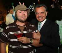 Tyler Labine and Ray Wise at the CW Television Critics Association Press Tour party.