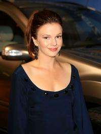 Amber Tamblyn at the Mercedes Benz Fashion Week.