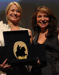 Trine Dyrholm and Susanne Bier at the Award ceremony of the 5th Rome Film Festival.