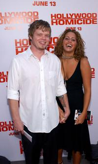 Elden Henson and Kristin at the premiere of