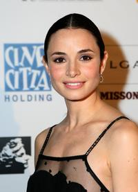 Mia Maestro at the Cinema Italian Style Opening Night Celebration.