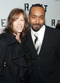 Jane Rosenthal and Jesse L. Martin at the premiere of