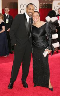 Jesse L. Martin and S. Epatha Merkerson at the 63rd Annual Golden Globe Awards.