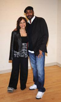 Rosie Perez and Jesse L. Martin at the Our Time Gala at Jack H. Skirball Center.